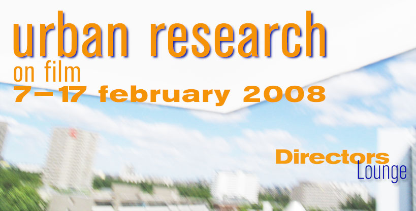 Urban Research 2008 banner